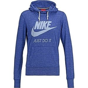 Nike Women's Gym Vintage Hoodie Deep Blue